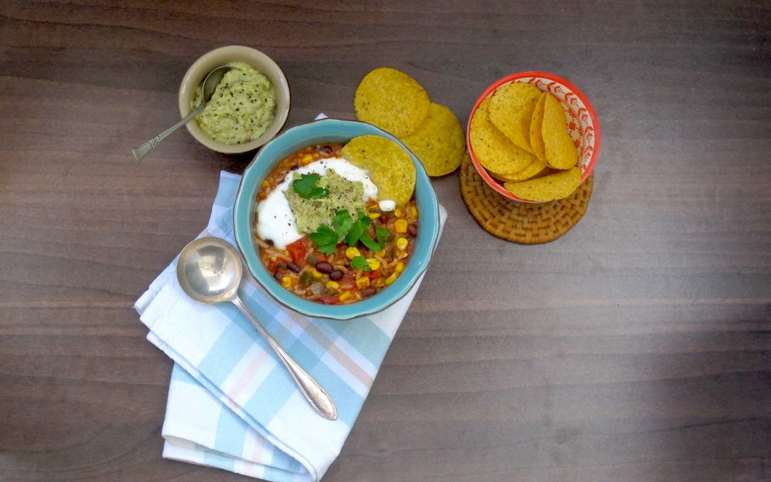 Mexican Tomato and Bean Soup