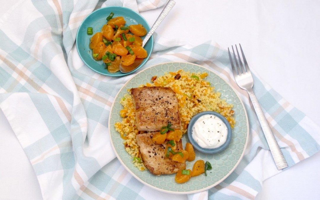 Seared Angel Fish and Clementine Salsa