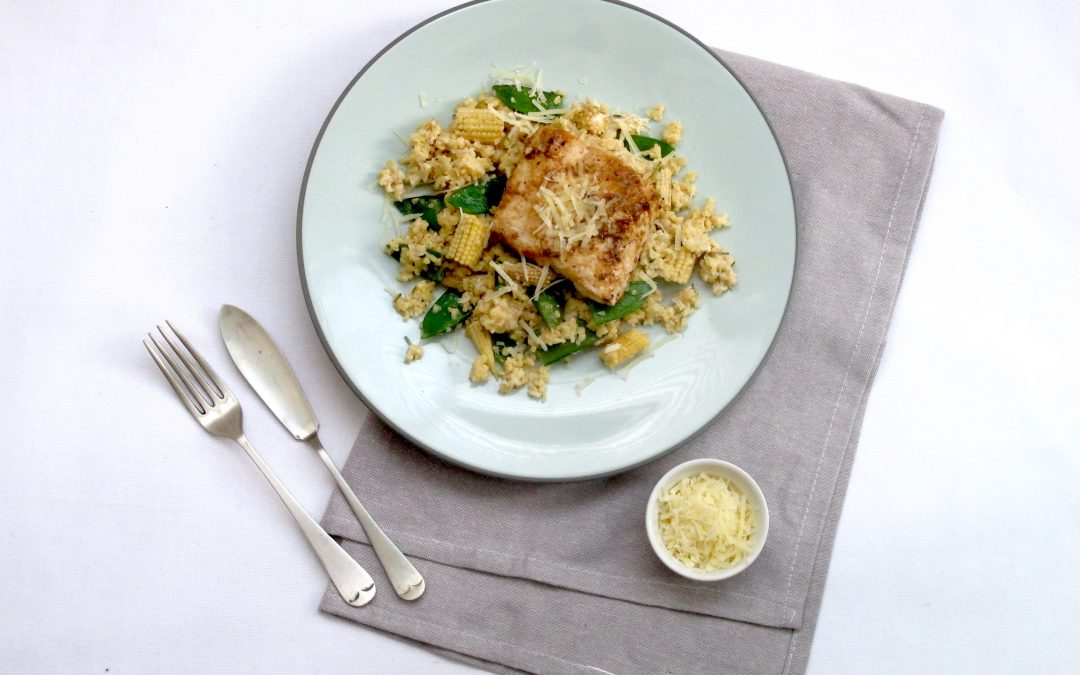 Kingklip with Bulgur Risotto