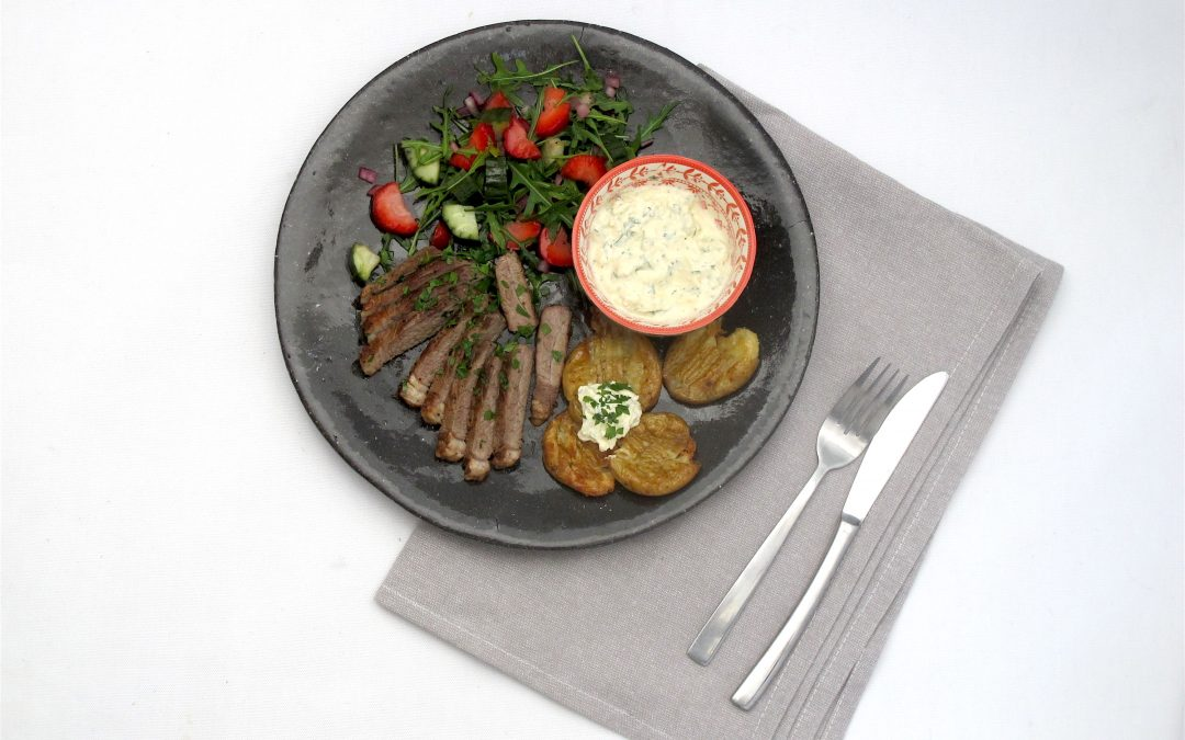 Rump Steak with Blue Cheese Potatoes
