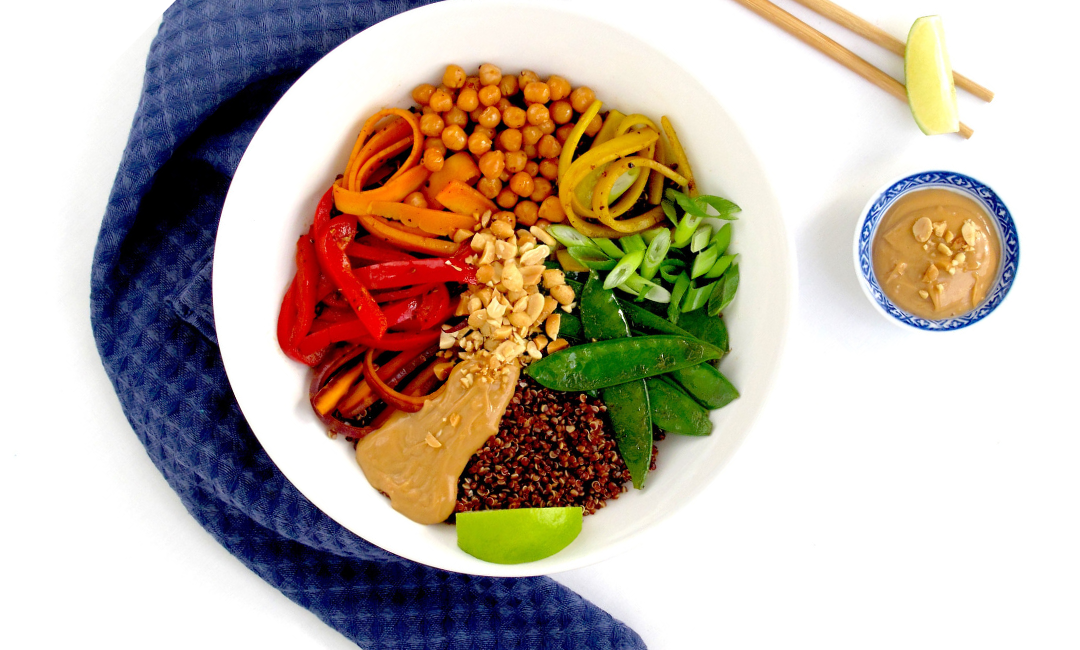 Stir fried summer veg Buddha Bowl