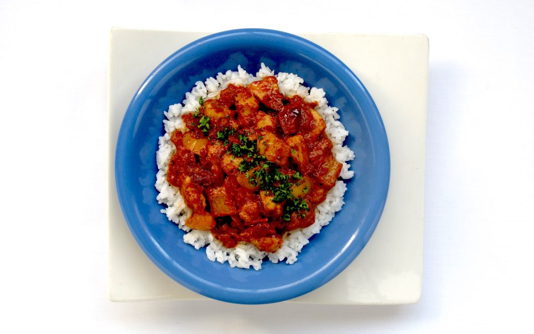 Cajun Tomato Chicken and Jasmine Rice